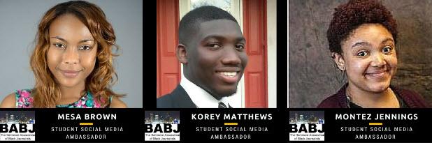 nabj r1 student social media ambassadors